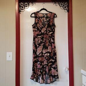 Rampage LG Paisley W/Ruffles Sleeveless Dress
